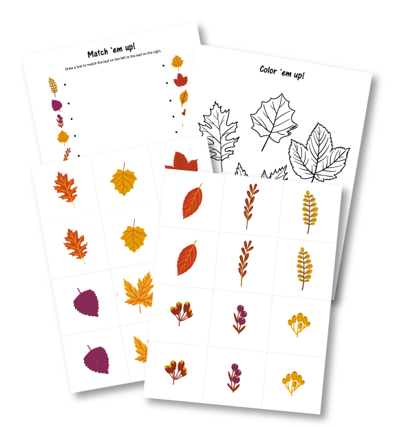 FREE PreK-K Fall Printable Pack