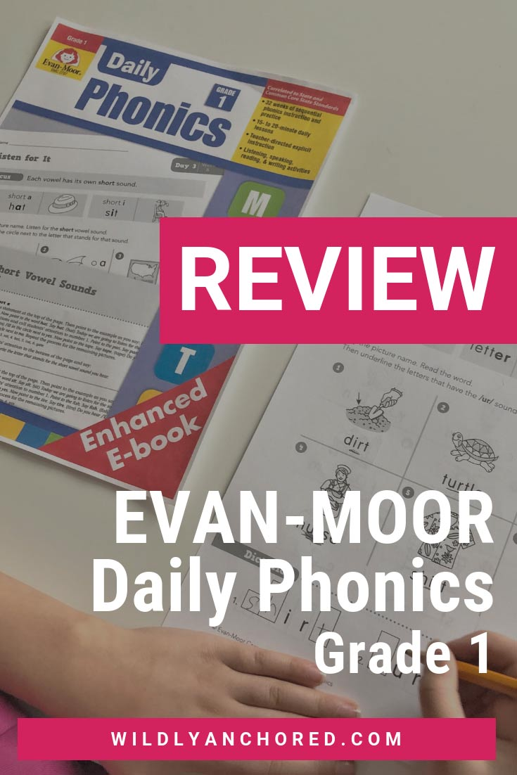 Evan-Moor Daily Phonics Grade 1 Curriculum Review E-book