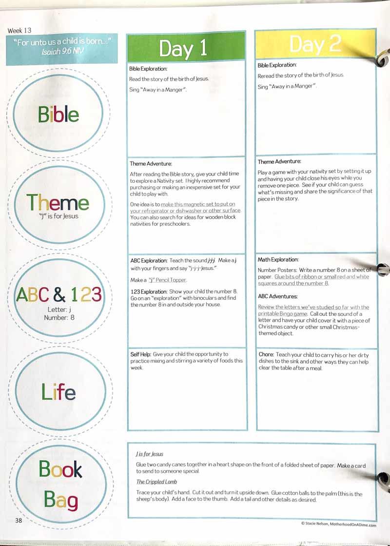 A Christian preschool curriculum that includes adventure, education and fun!