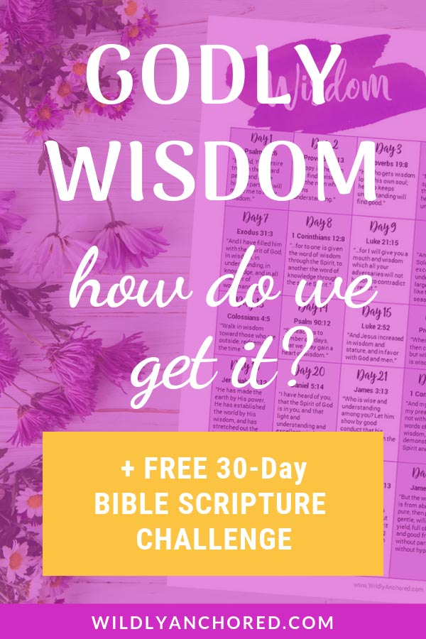 We need Godly wisdom in order to make decisions. Download this FREE 30-Day Godly Wisdom Scripture Challenge Printable. #scripturechallenge #devotions #Christiandevotions #scripturewriting #wisdomofGod