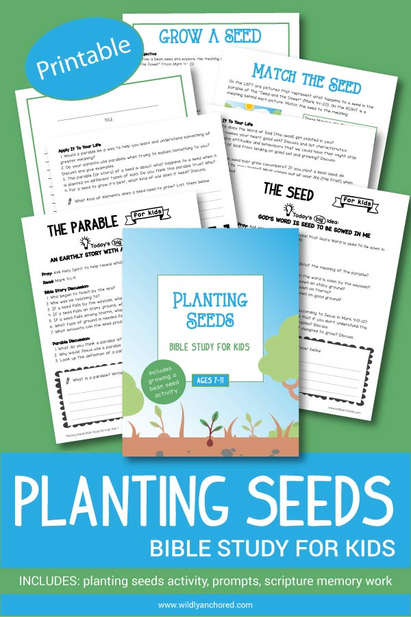 Planting Seeds Bible Study For Kids Printable