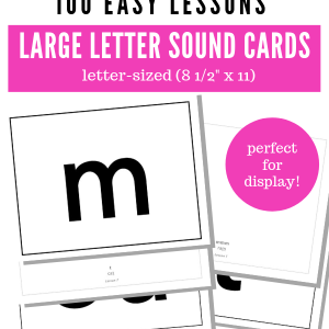 Teach Your Child To Read In 100 Easy Lessons - Letter-Sized Letter Sounds Printables - perfect for display at home or in a classroom.