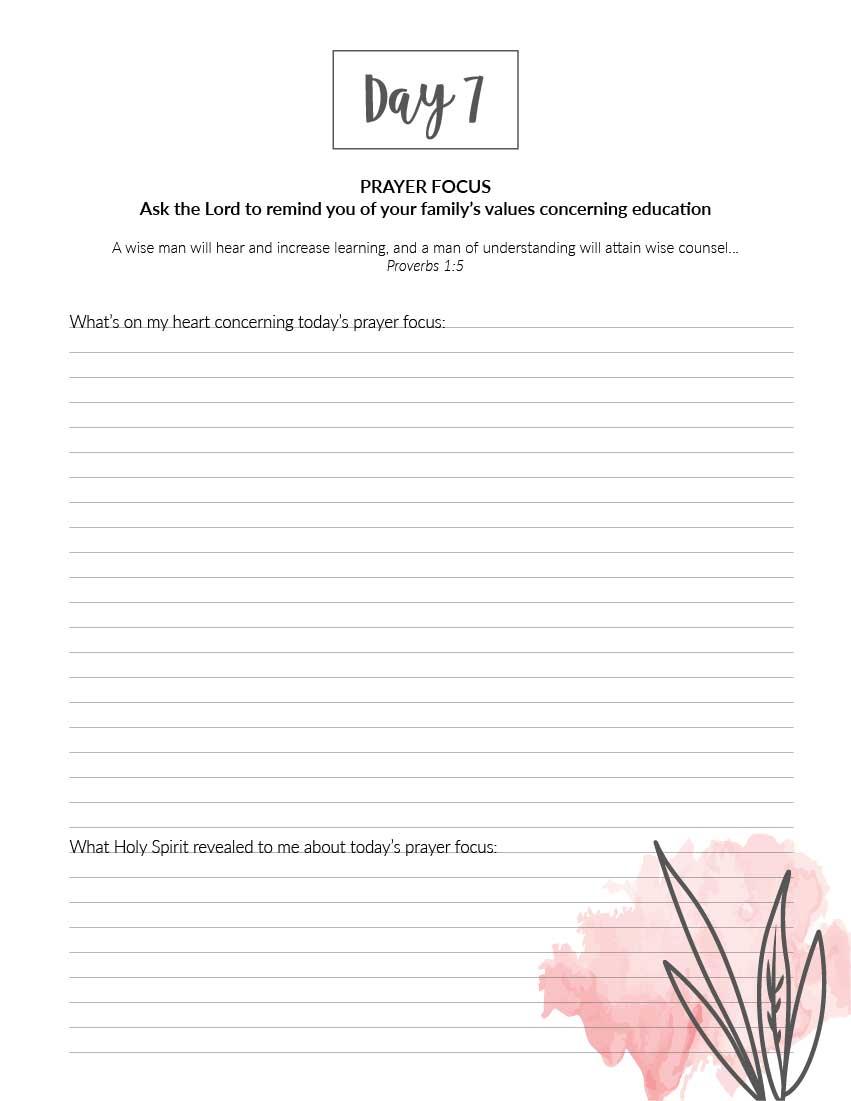 "My Homeschool Prayer Journal (Printable) 8.5""x11"" - Wildly Anchored"