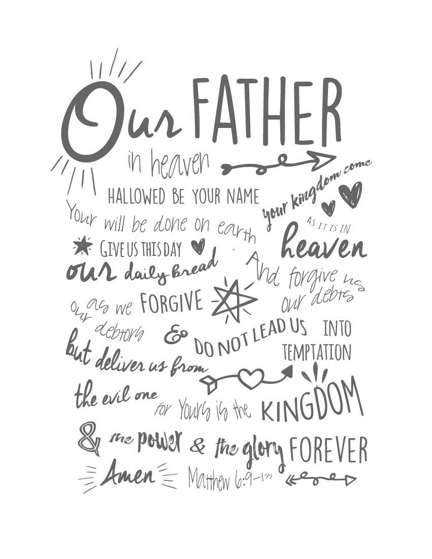 photograph regarding Printable Lord's Prayer named Prayer Bible Analysis for Children (Printable)