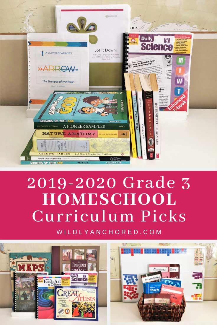 2019-2020 Grade 3 Homeschool Curriculum Picks