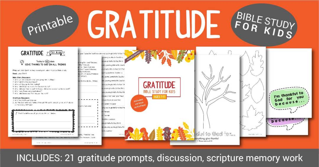 Help your kids discover Biblical gratitude with scripture, scripture writing, memorization, activities including gratitude prompts, thankfulness tree and gratitude cards.