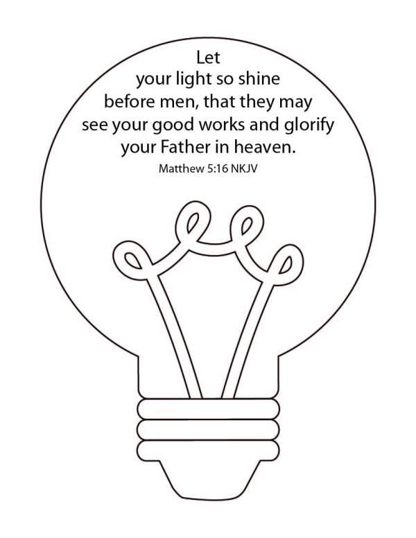 Shine Your Light Bible Study For Kids (Printable)