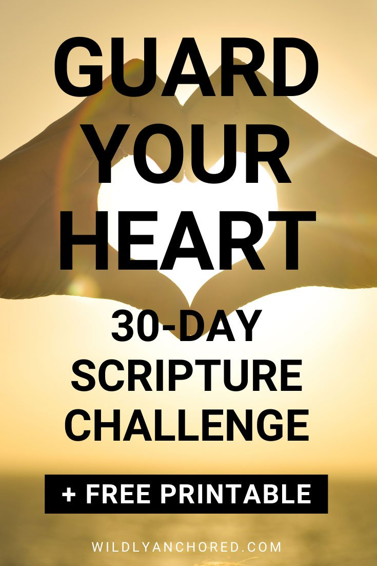 What we put into our heart comes out. It's the production centre of our lives, which is why guarding your heart is so important.  + FREE 30-Day Guard Your Heart Scripture Challenge Printable