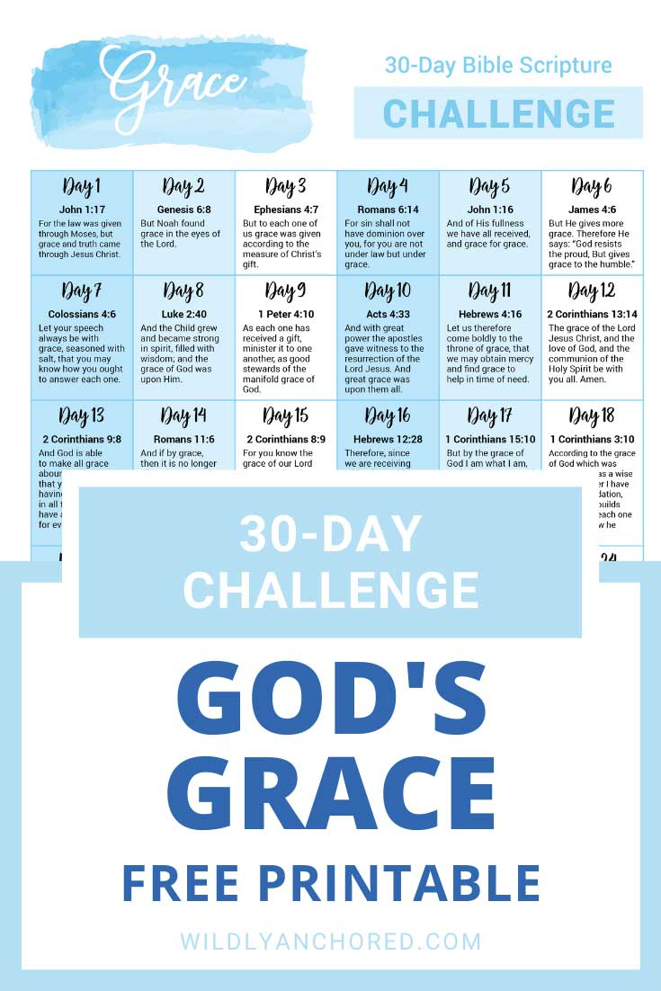 30 Scriptures About God's Grace + FREE PRINTABLE