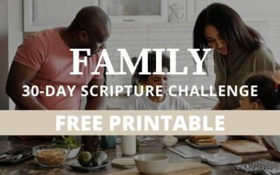 30 Powerful Scriptures To Pray Over Your Family + FREE Printable