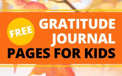 FREE Gratitude Journal Pages For Kids Printable