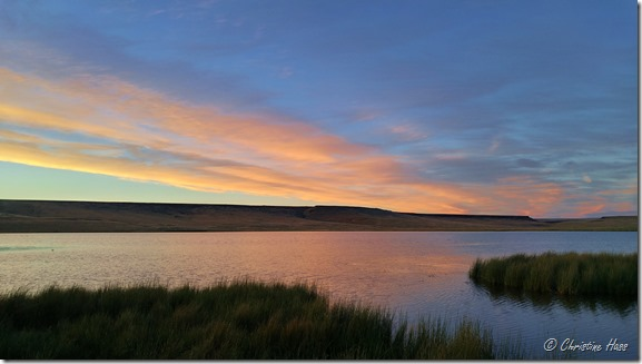 Summer sunset at Catnip Reservoir