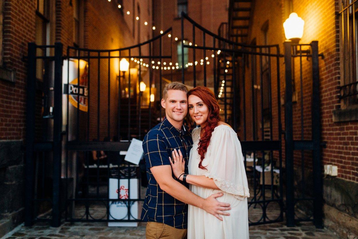 Pittsburgh Penn Brewery Engagement Wedding