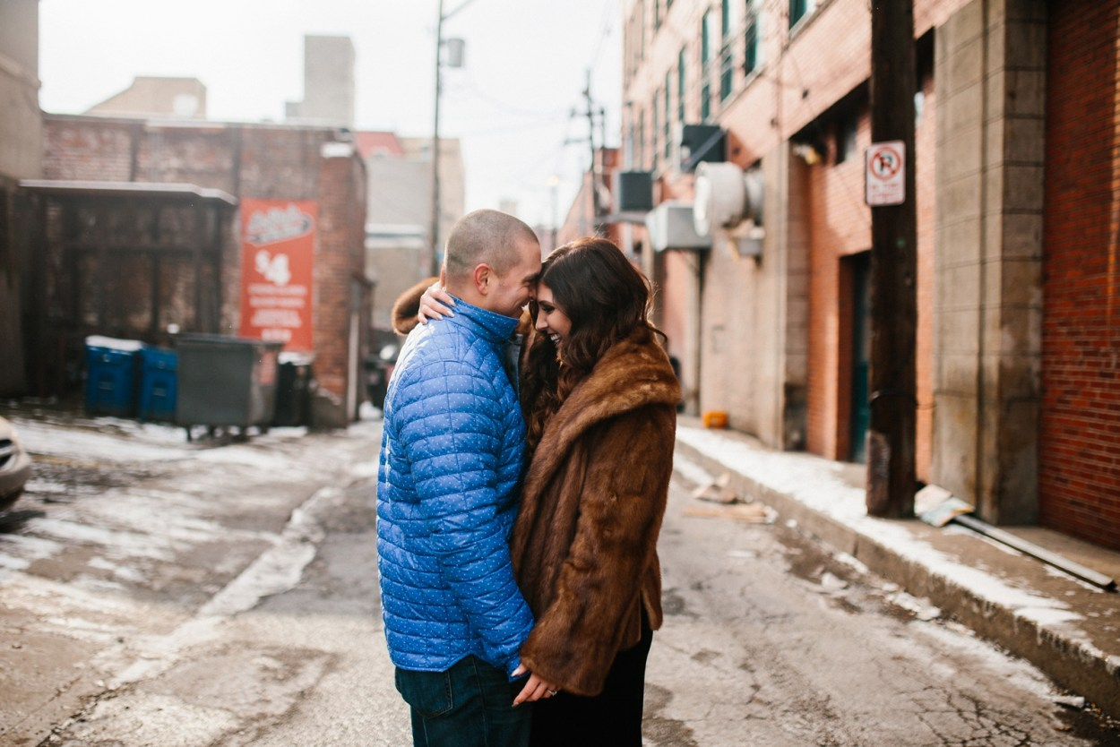 Pittsburgh Winter Engagement Strip District