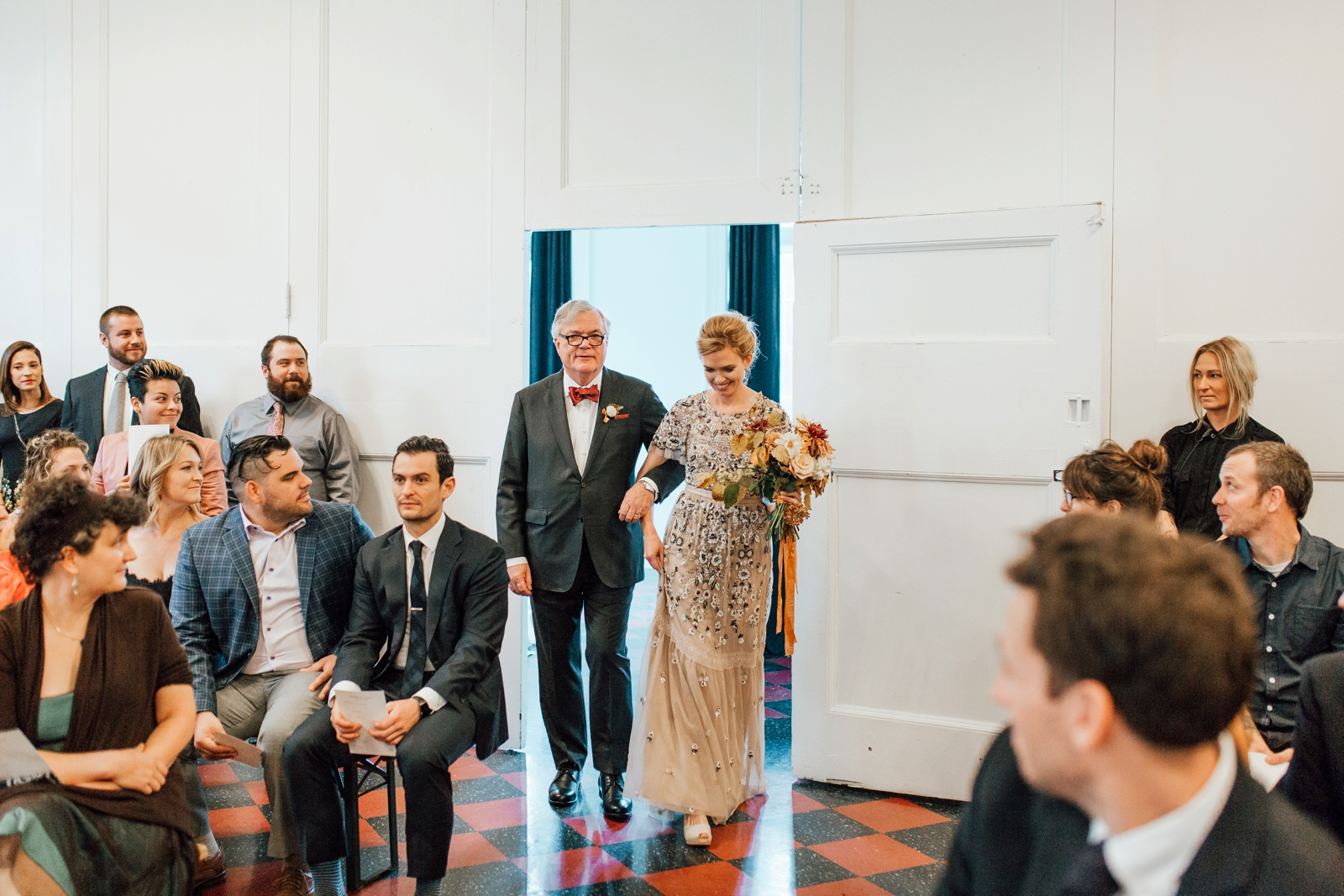 Ace Hotel Pittsburgh Wedding Photographer Ball Room Gymnasium