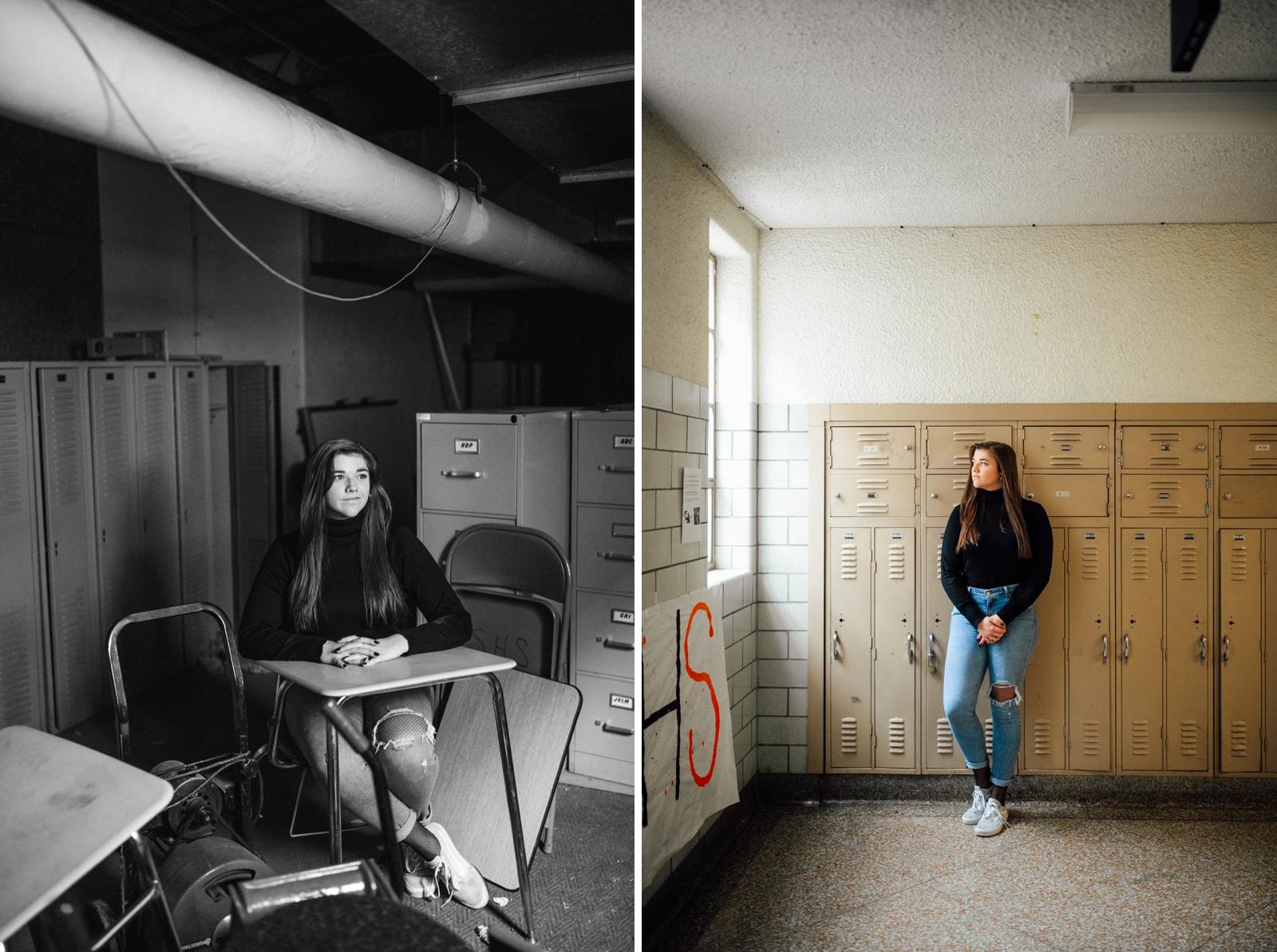 Wheeling West Virginia High School Senior Portraits Photographer Theater