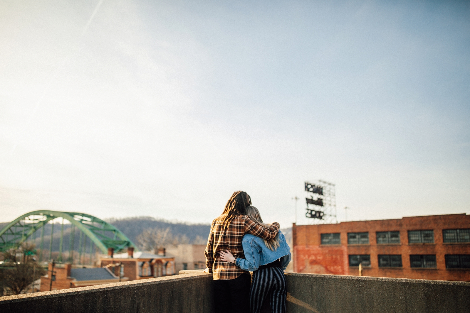 Wild Native Photography Wheeling West Virginia Engagement Couple Session Downtown