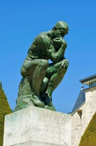 photo of the thinker statue