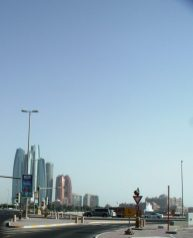 Some of the buildings of Abu Dhabi.
