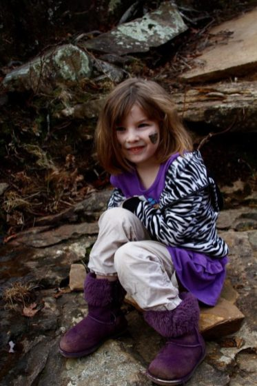 One of my granddaughters who went with us to hike the Kings River Falls trail.