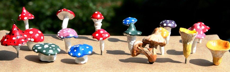 A troop of Fairy Garden mushrooms from Wild Ozark.