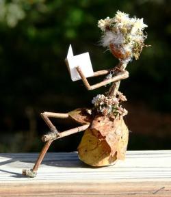 Reading Acorn Folk Lady in a Chair