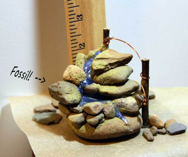 OOAK Fairy Garden Accessories from Wild Ozark: Waterfall