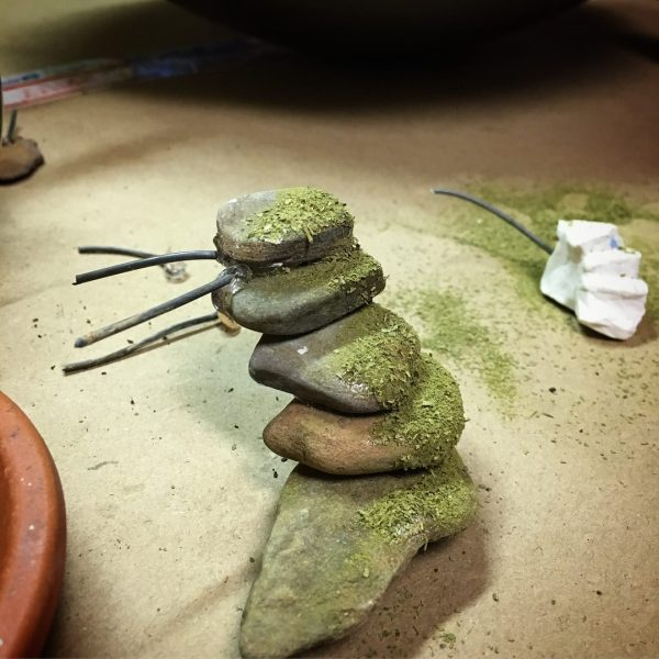 A set of 'moss-covered' steps for the fairy gardens.