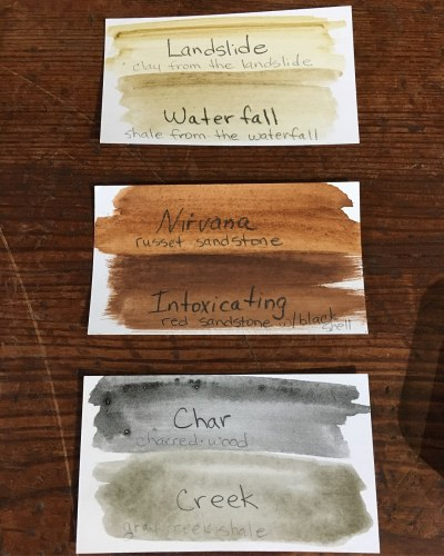 Color swatches for collection No. 1