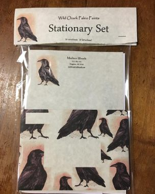 Packaged set of Crow stationary from Wild Ozark.
