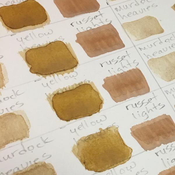 Swatches from the Soul of the Ozarks Pigments Collection no. 1