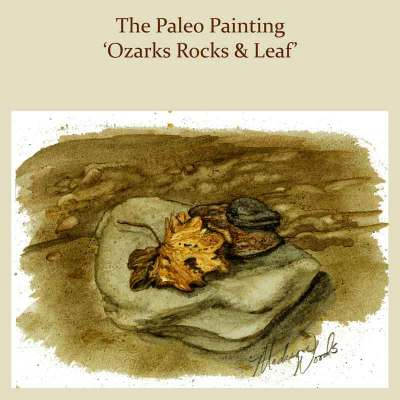 The featured image of a painting by Madison Woods using Ozark pigments.