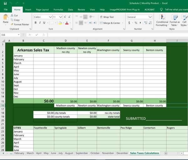 arkansas sales tax worksheet