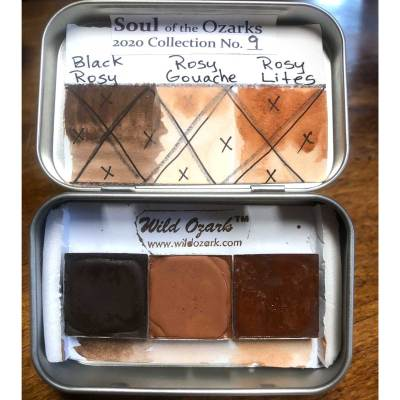 3 Ozark pigments in 26 mm pans.