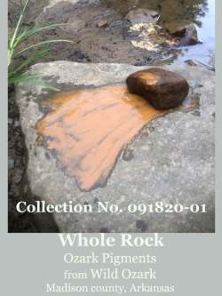 A single large rock in this collection from Wild Ozark.
