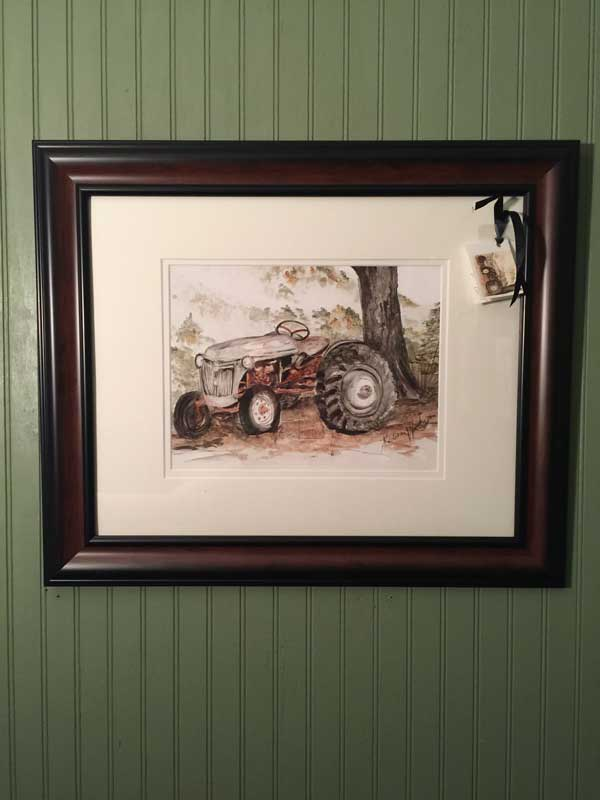 Most of my art admittedly is found in the houses of my family. This tractor was my grandfather's, and my dad gave it to me.