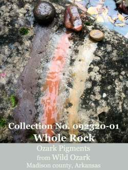 A whole rock pigment collection from Wild Ozark.