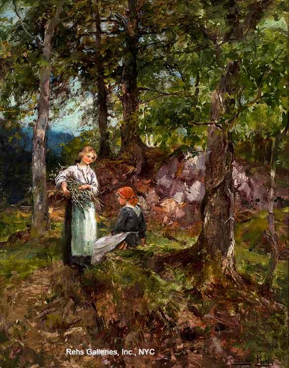A Rest in the Woods by Henry John Yeend King