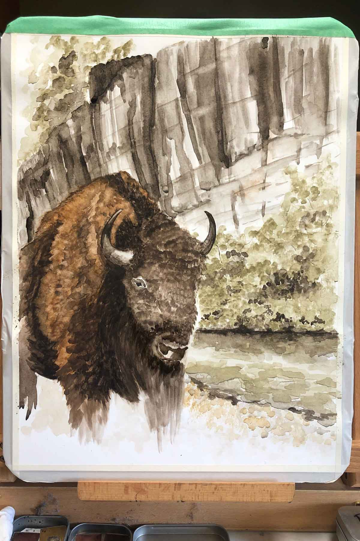 Namesake of the Buffalo National River, getting closer to finished.