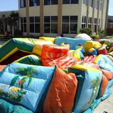 rise of the king of the jungle inflatable jungleobstacle