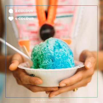 Beat the heat, with something sweet. How many colours on your snow cone? . .
