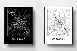 darmowe plakaty z mapami miast czarno białe minimalistyczne