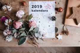Kalendarz do druku na 2019 rok wild rocks