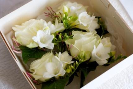 cream-rose-corsage-Jasmine-freesia