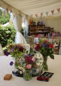 Jam Jar Table Flowers
