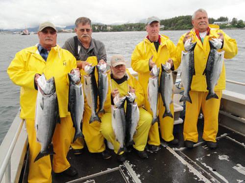 Silver salmon are starting to show up in Sitka