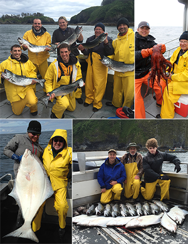 5 30 2016 Successful fishing plus a Pacific Octopus and a beautiful releaser halibut