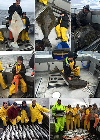 8 30 2015 Haber Family captured big catch and release halibut today