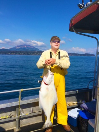 Another Beautiful Halibut on a Beautiful Day