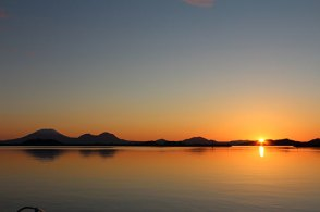 Beautiful Sunset View From Eliason Harbor in Sitka
